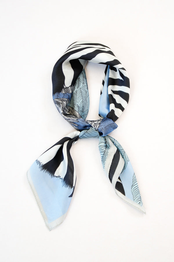 Stand Out Stripes Scarf - Sky Blue