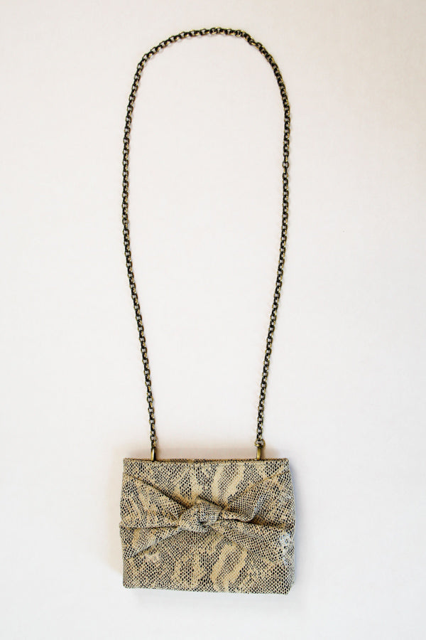 Take A Bow Convertible Clutch - Snake
