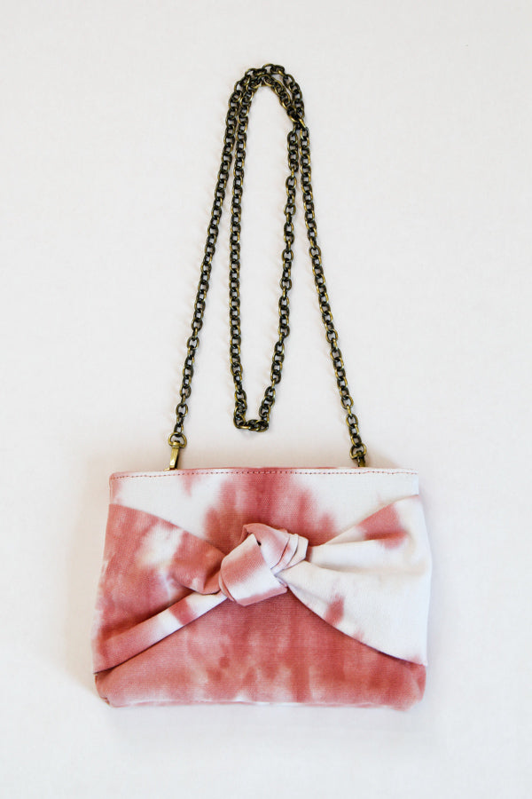 Take A Bow Convertible Clutch - Pink Tie Dye