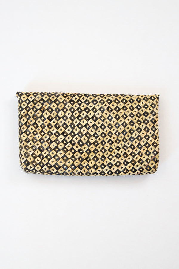 Tropical Locale Clutch - Natural & Black