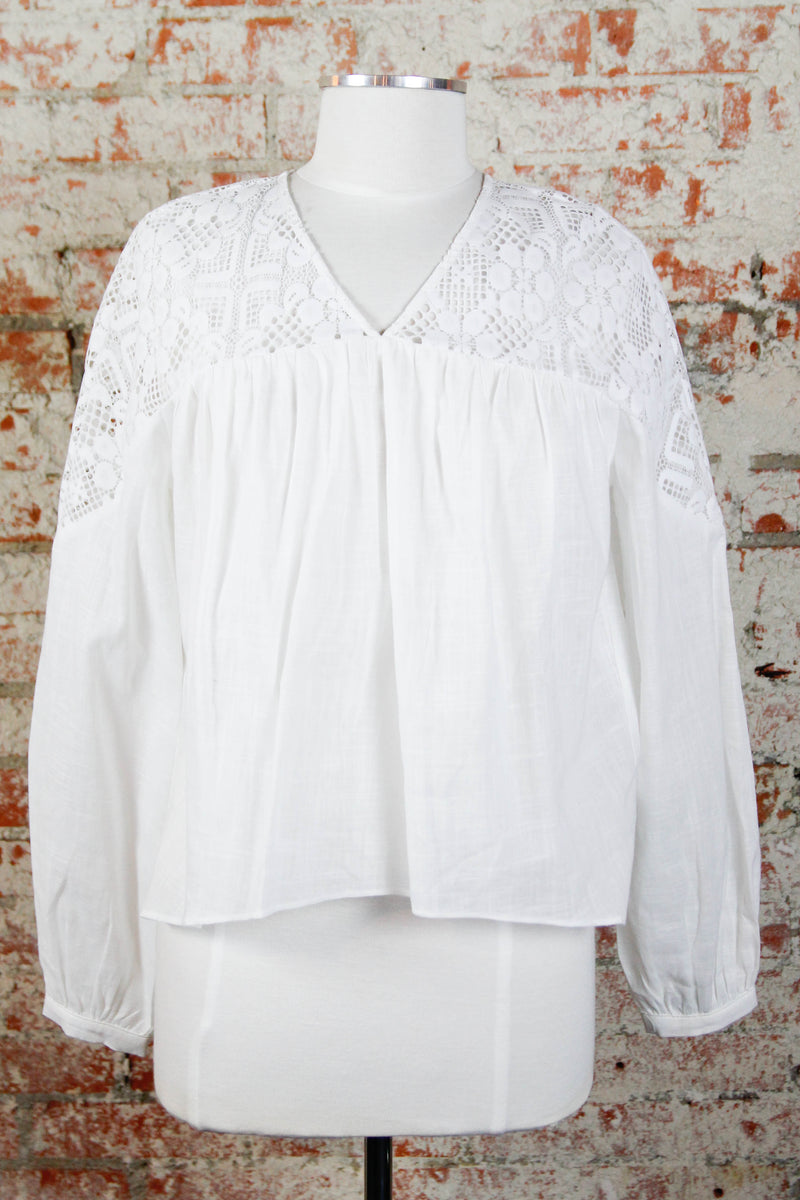 White Show A Little Blouse
