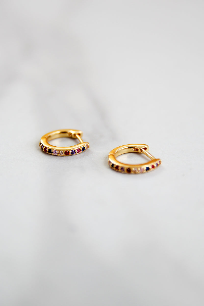 Lucky Charm Mini Hoops - Gold