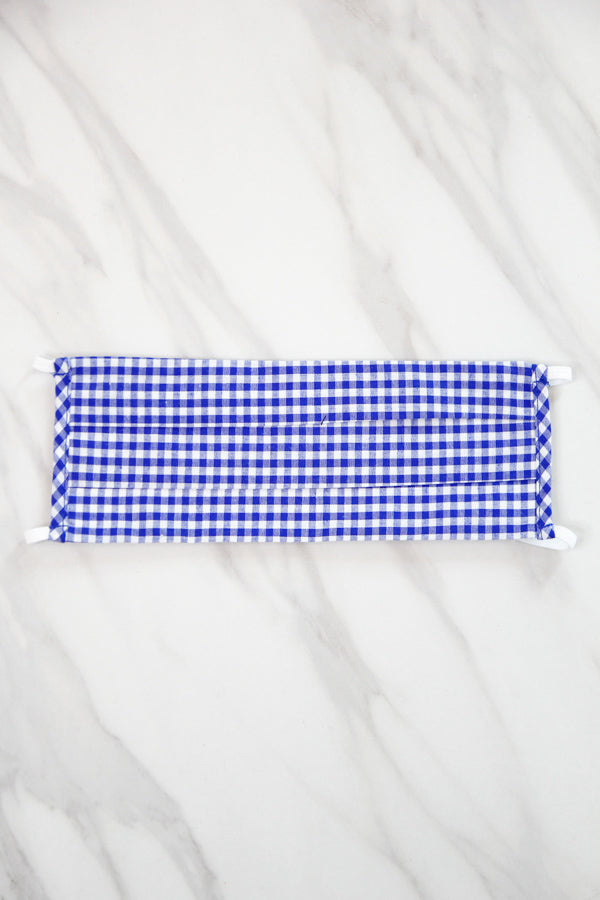 Cloth Face Mask - Royal Gingham