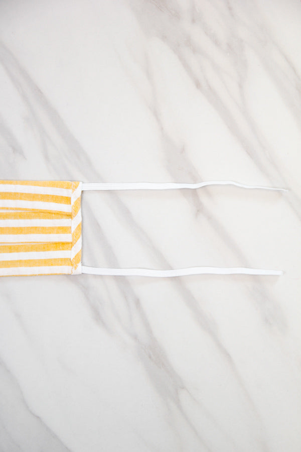 Cloth Face Mask - Yellow Stripe