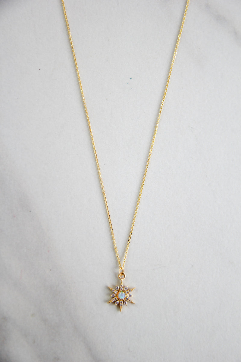 North Star Necklace - Gold