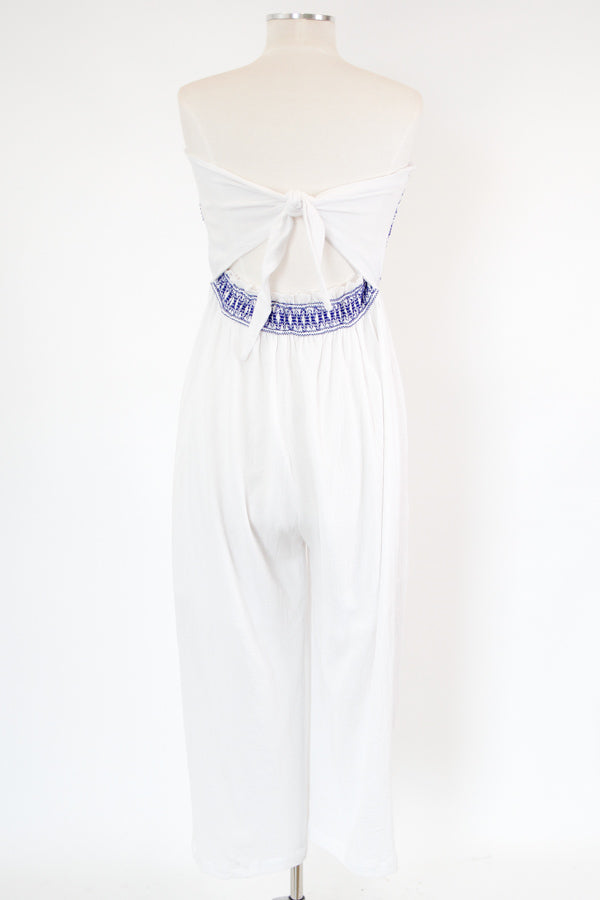 Just Lounging Jumpsuit - White