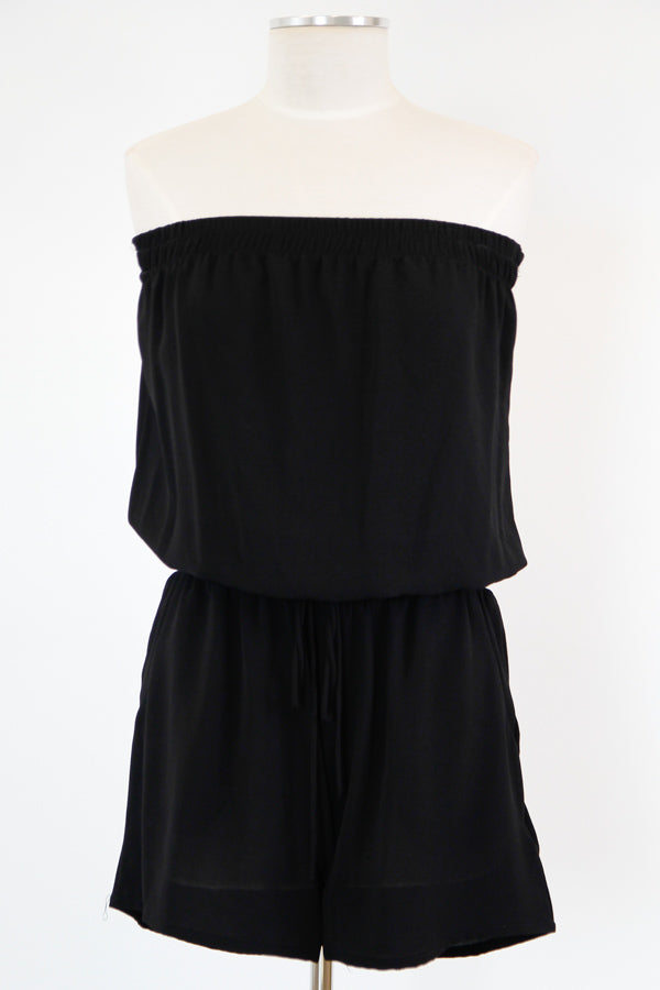 Casual Outing Romper - Black