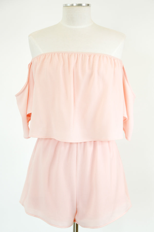 Blush As Can Be Romper - Pink