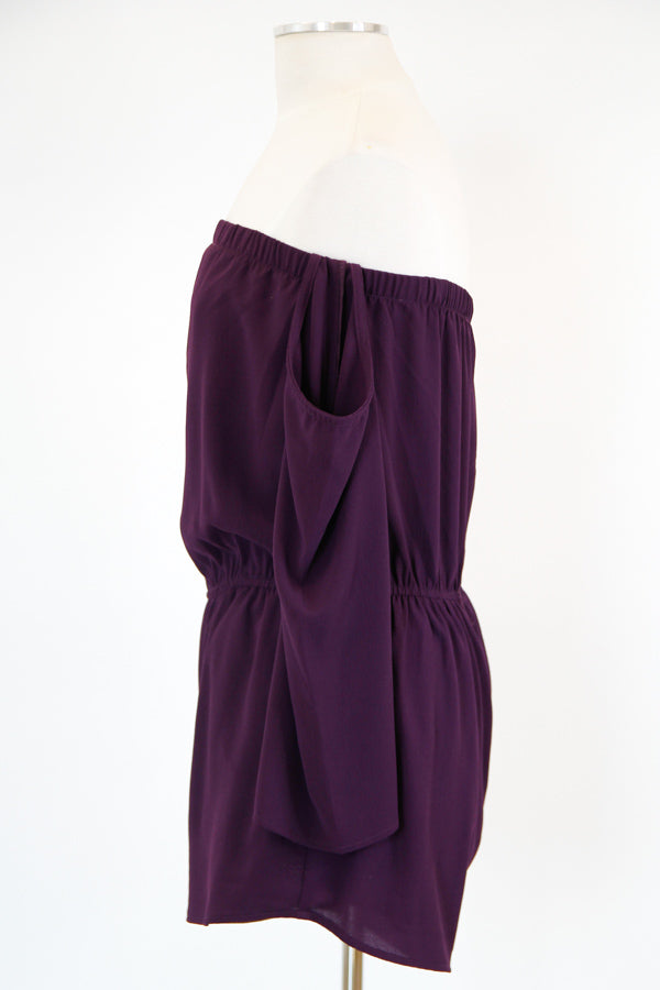 Set The Tone Romper - Plum