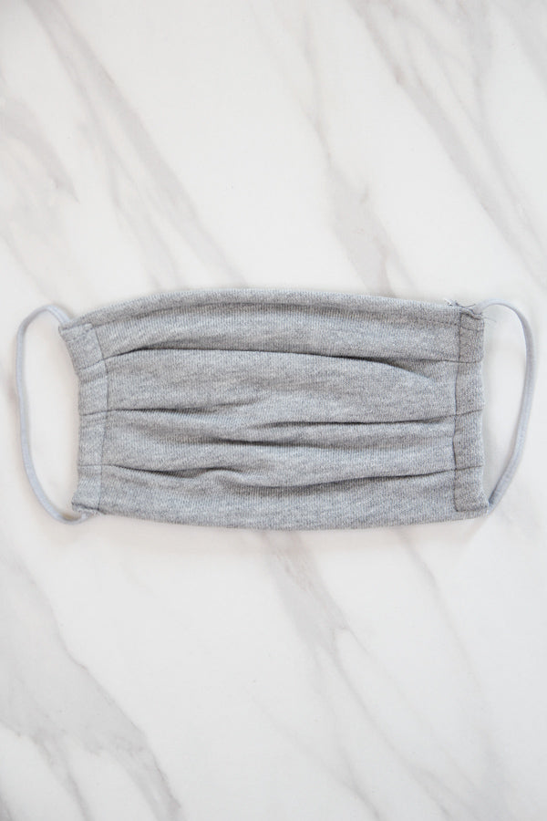 Z Supply Face Mask - Heather Grey