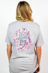 Heather Grey Floral Pig Tee