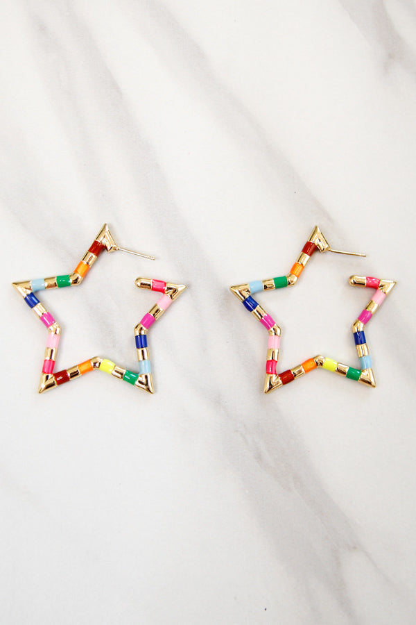 Star Bright Earrings - Rainbow