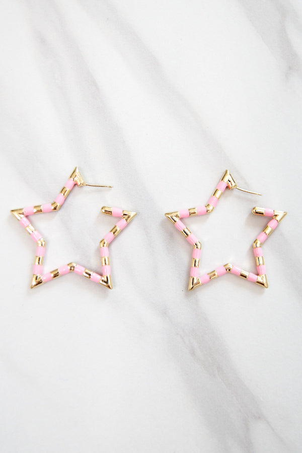 Star Bright Earrings - Pink