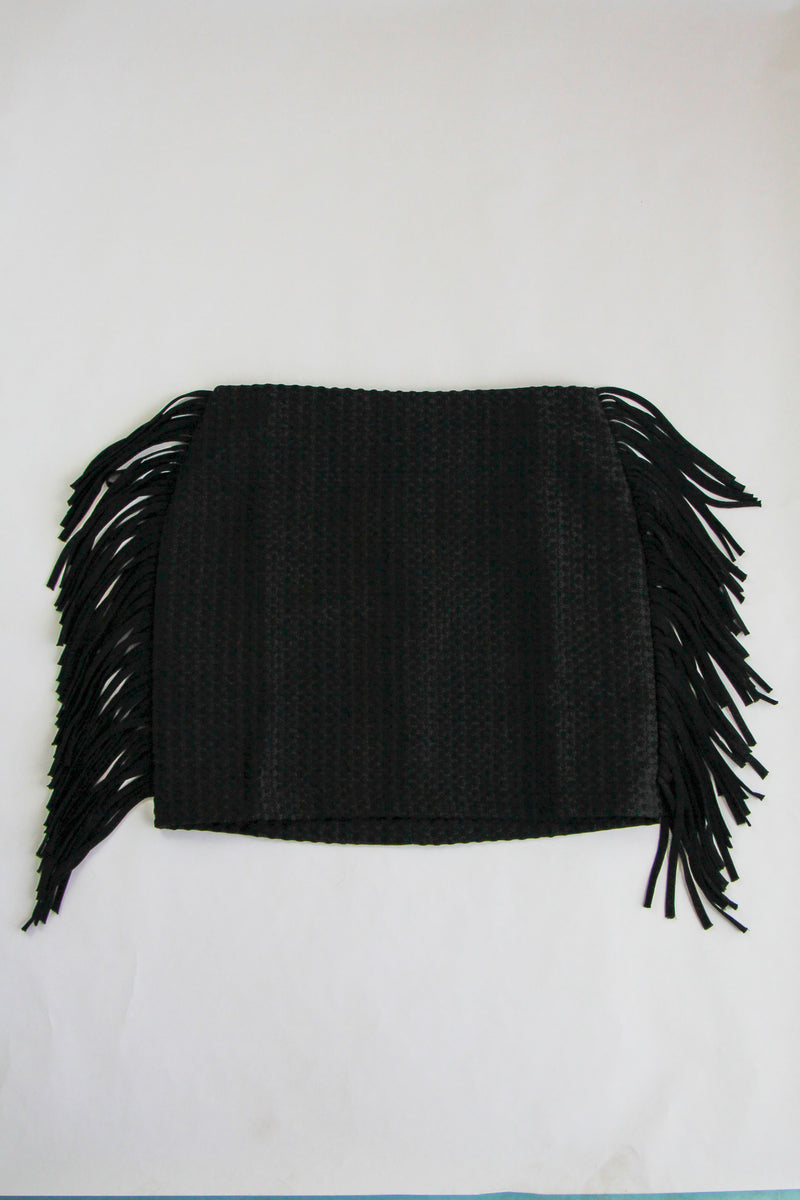 Feeling The Fringe Skirt - Black