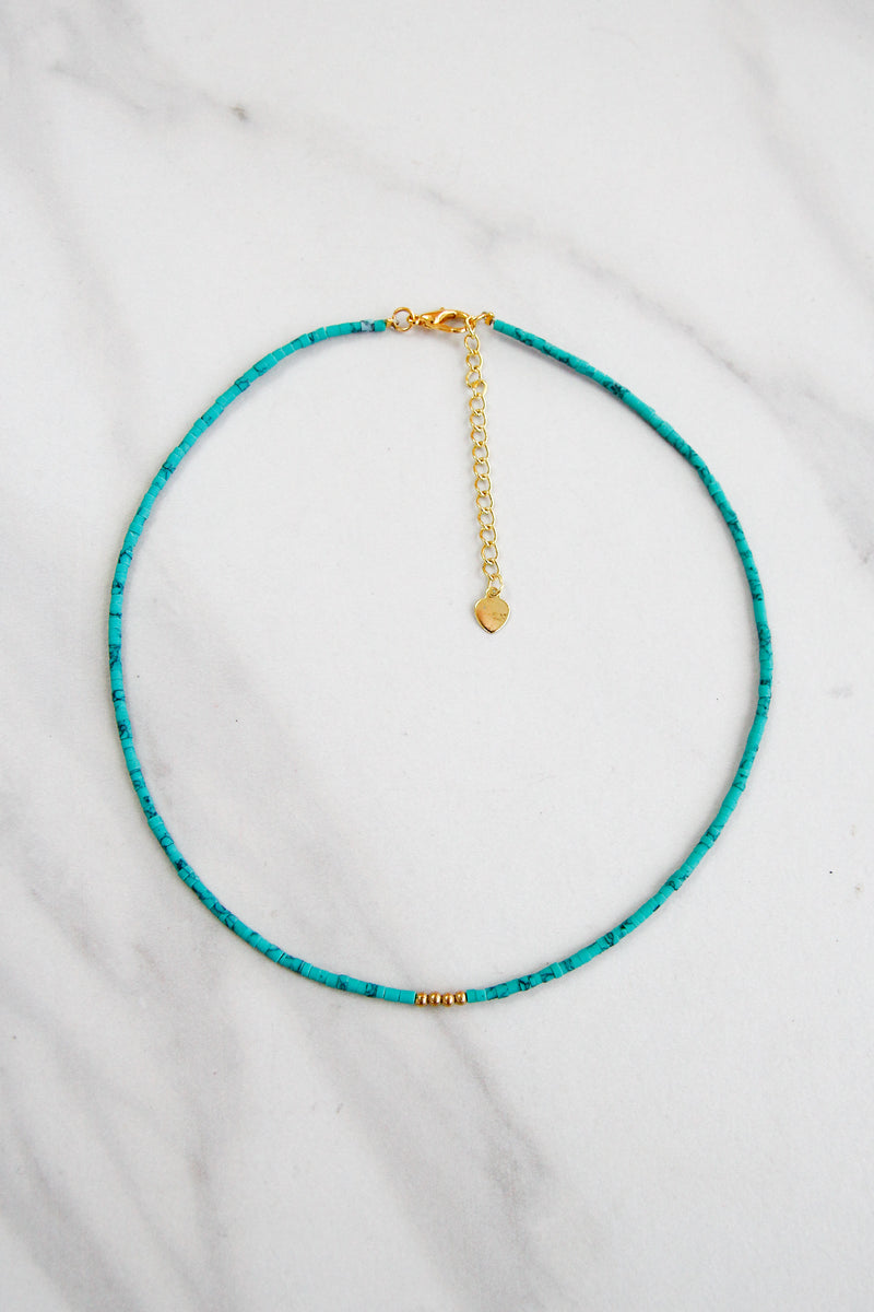 Surf's Up Choker - Turquoise