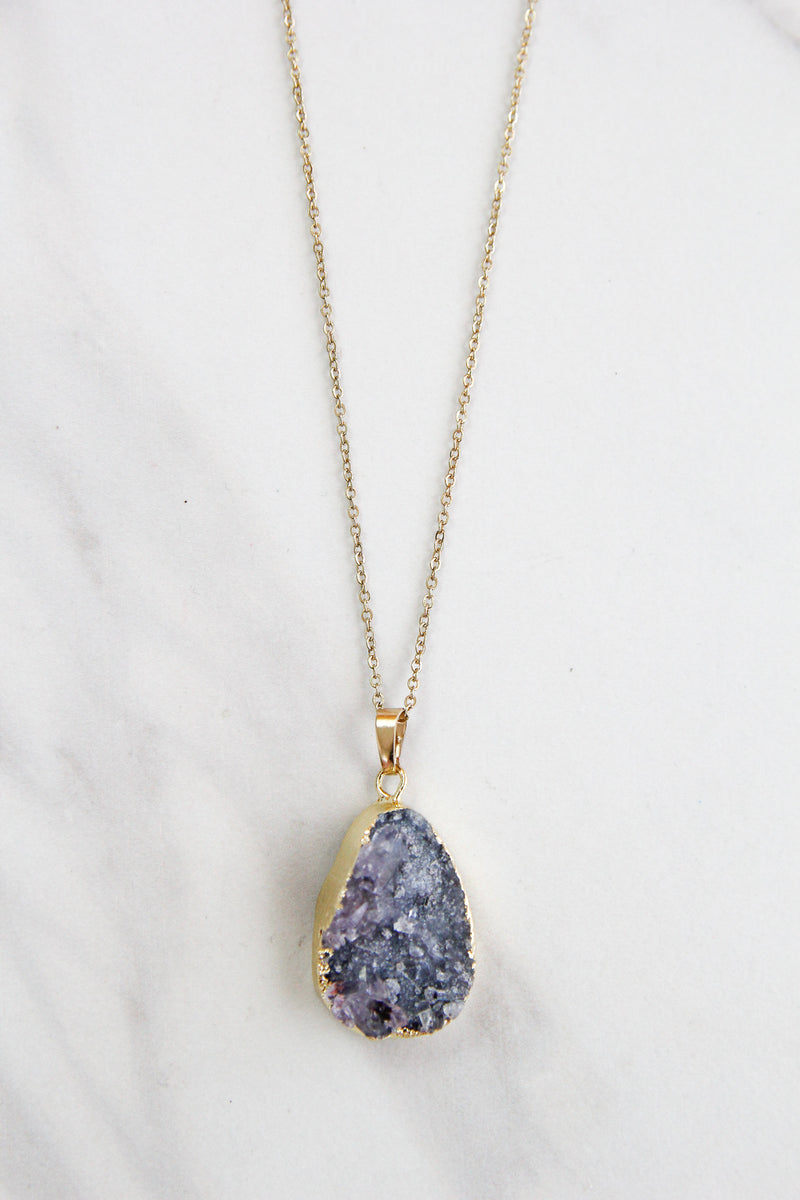 Earth Tone Geode Necklace