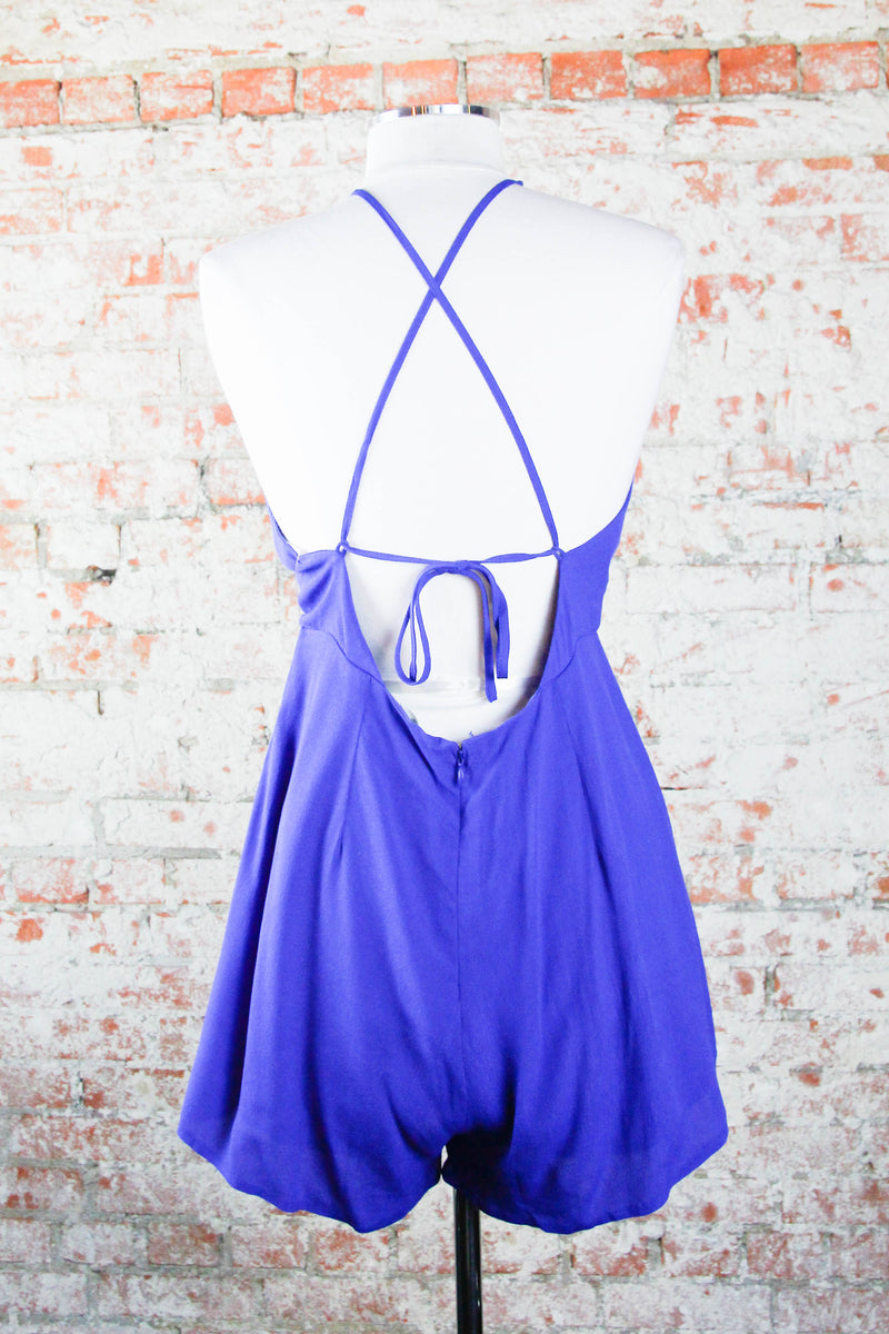 Royal Twisted Romper