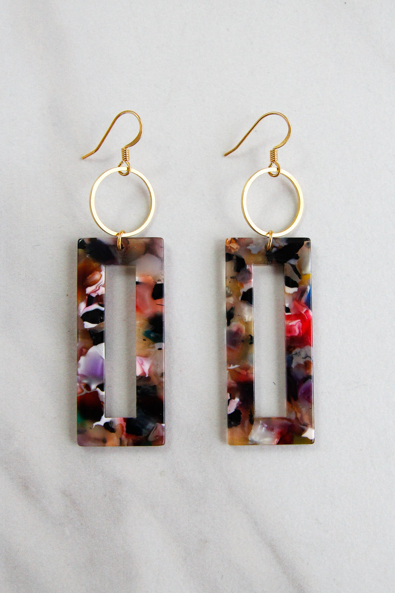 Multi Acrylic Drop Earrings