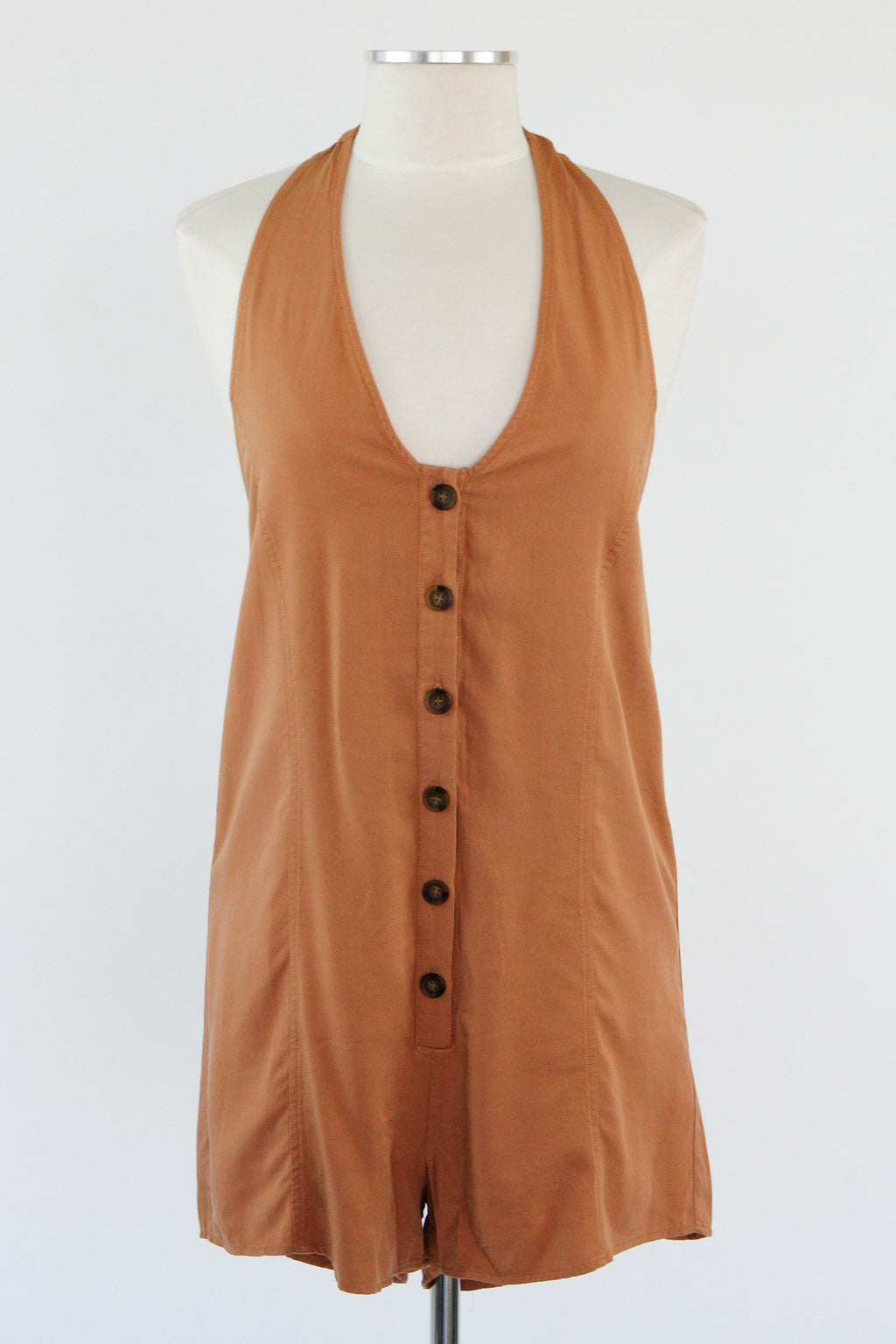 Iced Coffee In Hand Romper -Mocha