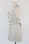 Going Going Gone Romper - White Stripe