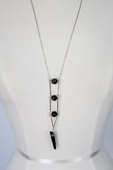 Lovely Ladder Necklace - Charcoal