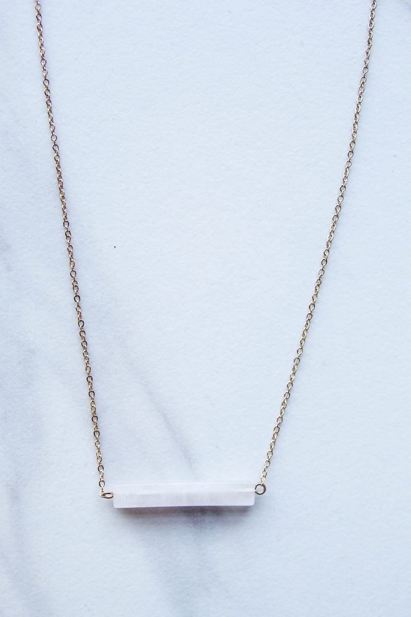 Translucent Balance Bar Necklace