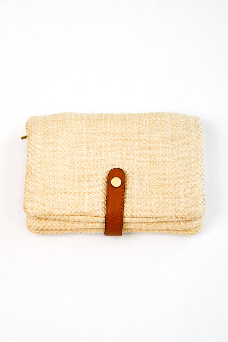 Only The Necessities Clutch - Natural