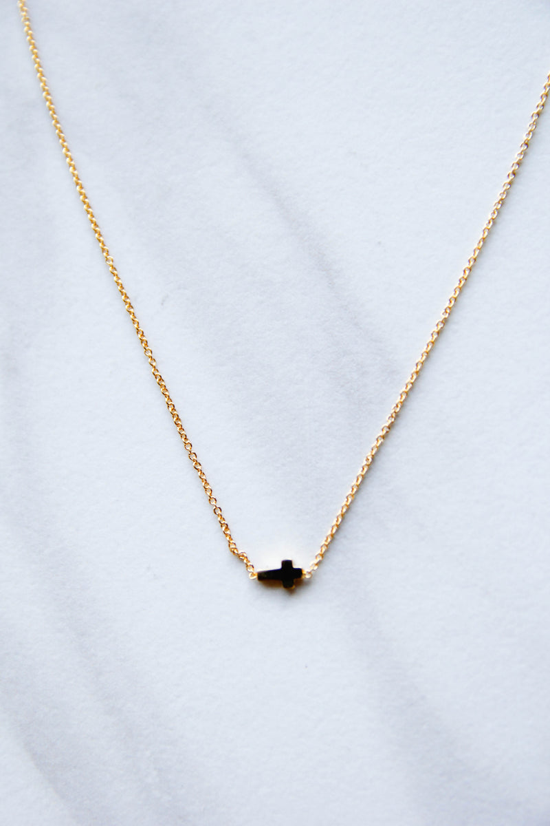 Bold Gold Cross Necklace