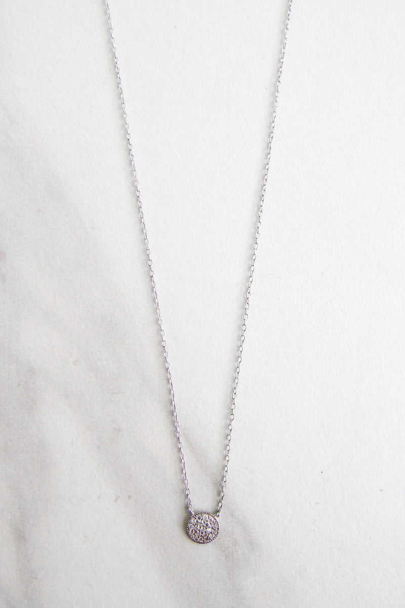 Circle Of Diamonds Necklace - Silver