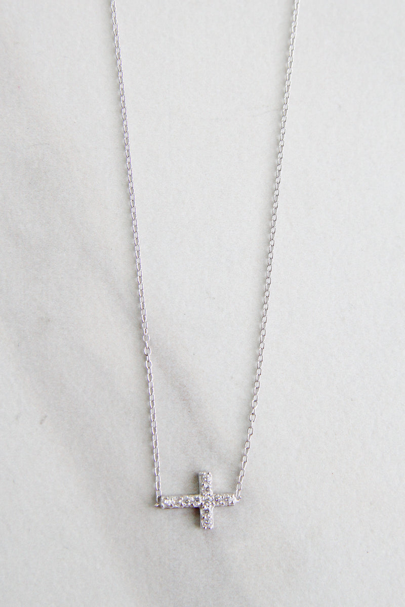 Marvelous Cross Necklace - Silver