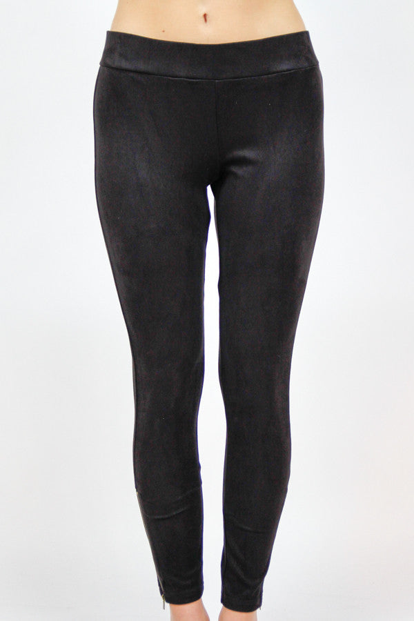 Black Zip it Up Leggings