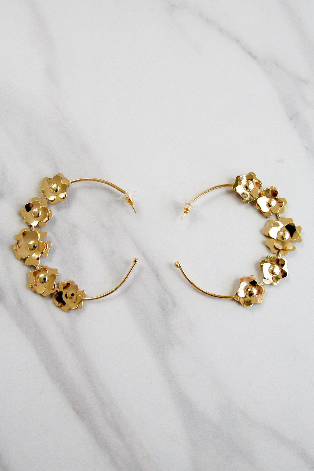 Sunshine & Daisies Hoops - Gold