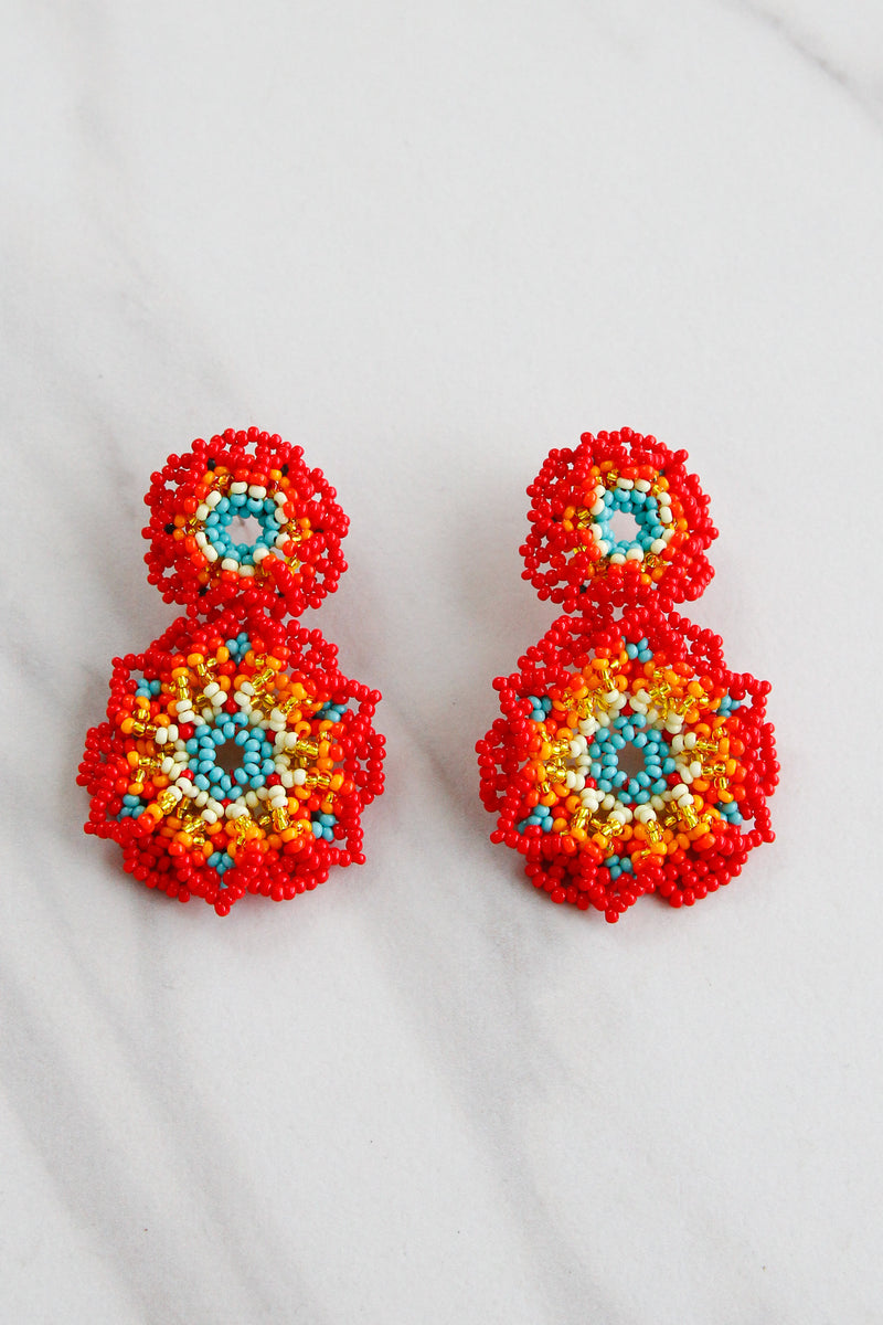 Pandora Earrings - Red