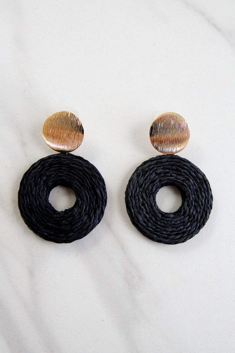 Rosemary Beach Earrings - Black