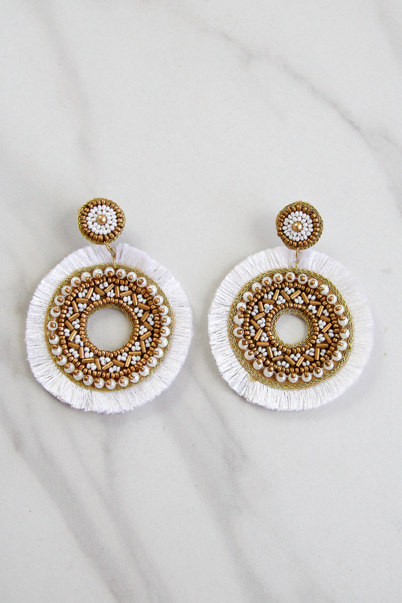 St. Kitts Earrings - White