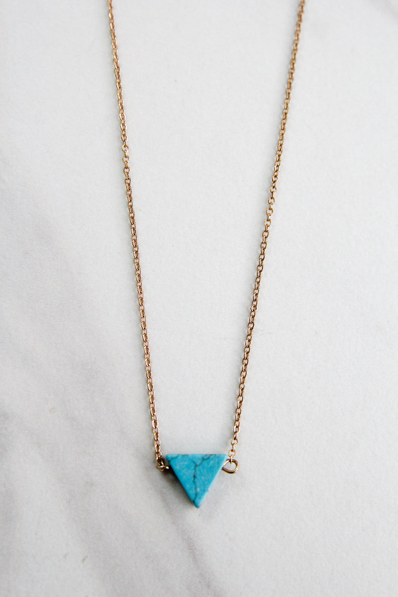 Try Again Necklace - Turquoise