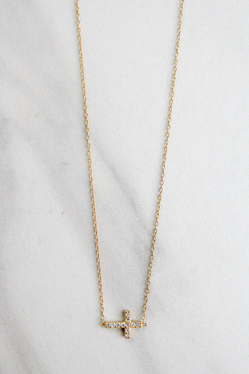 Marvelous Cross Necklace - Gold