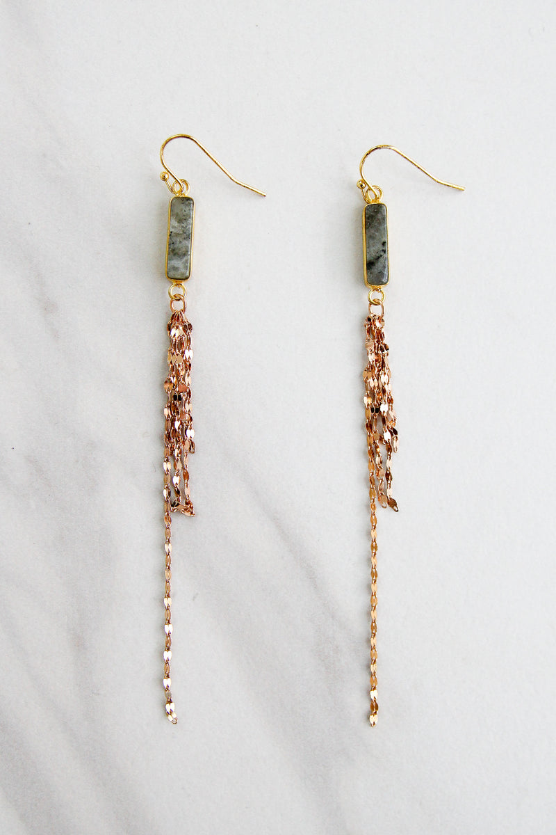 Poplar Street Drop Earrings - Grey