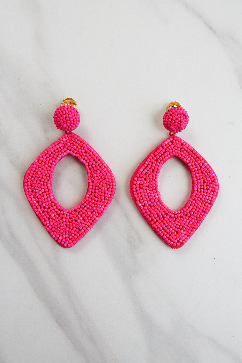 On Fire Earrings - Pink