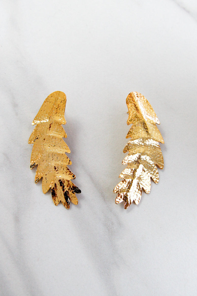 Light As A Feather Earrings - Gold