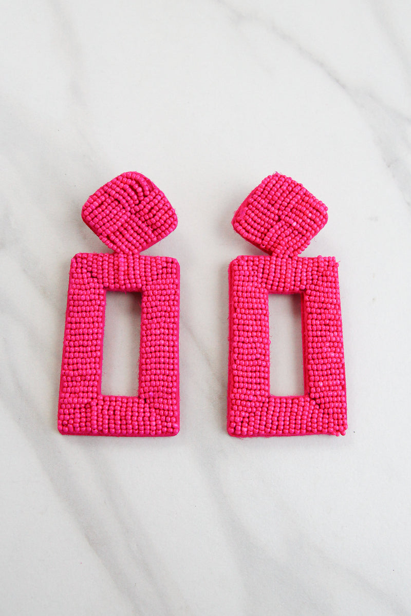 Feeling Groovy Earrings - Pink