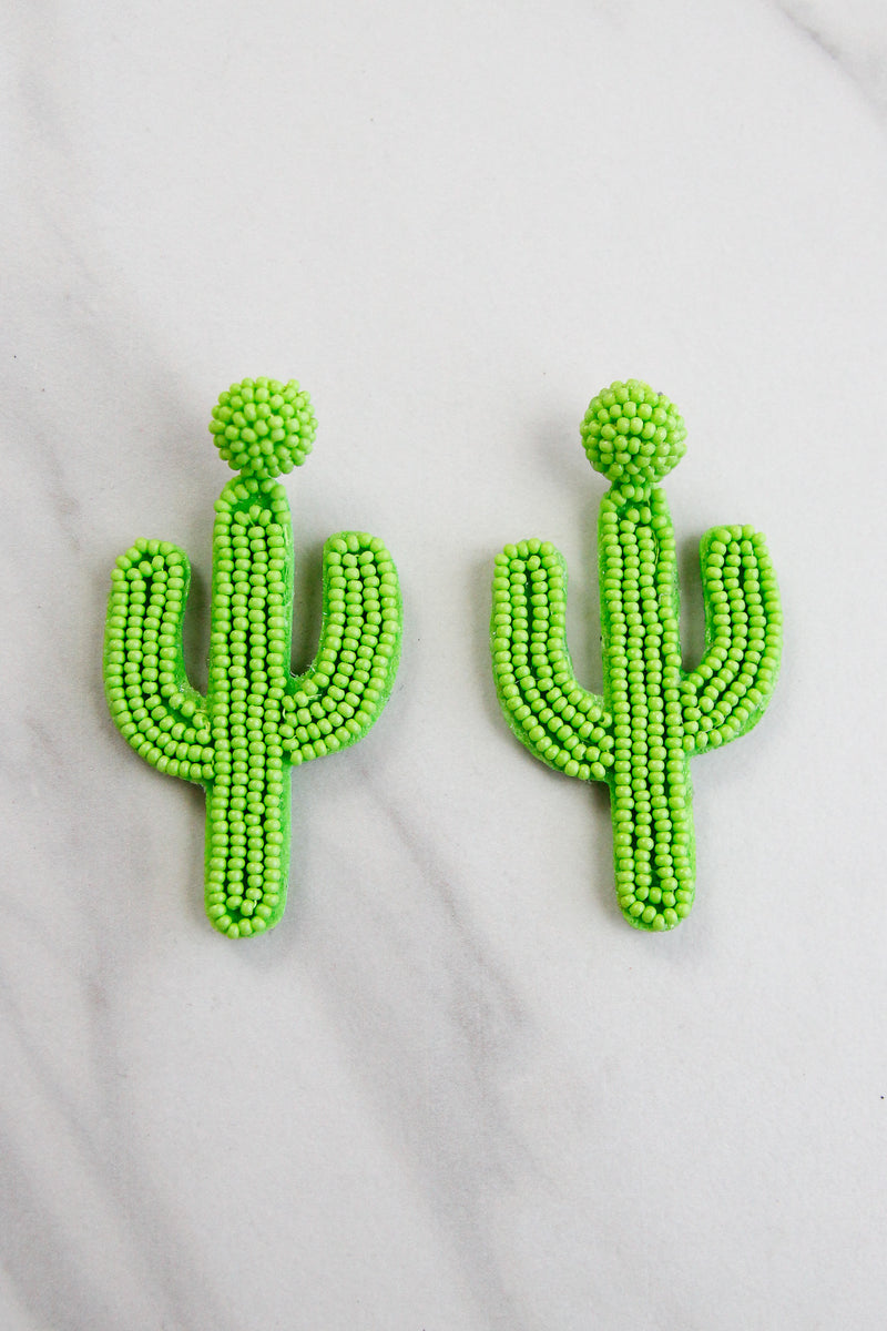 Cactus Makes Perfect Earrings - Green