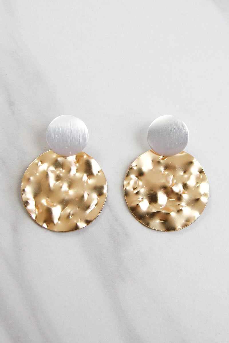 In The Moment Earrings - Gold