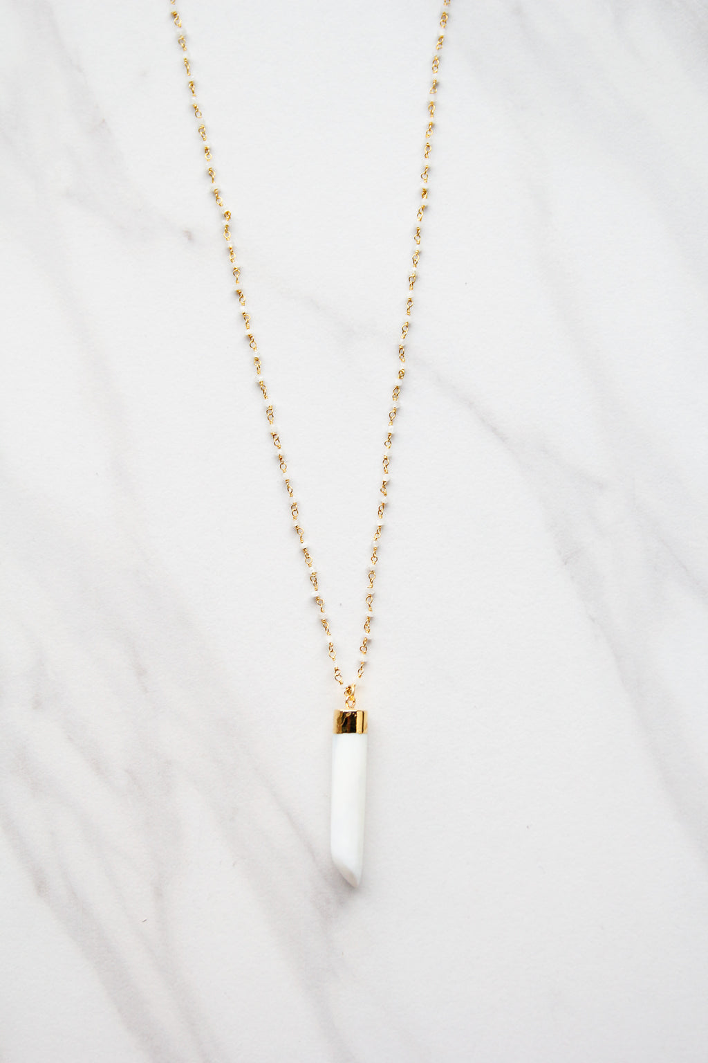 White Prism Necklace