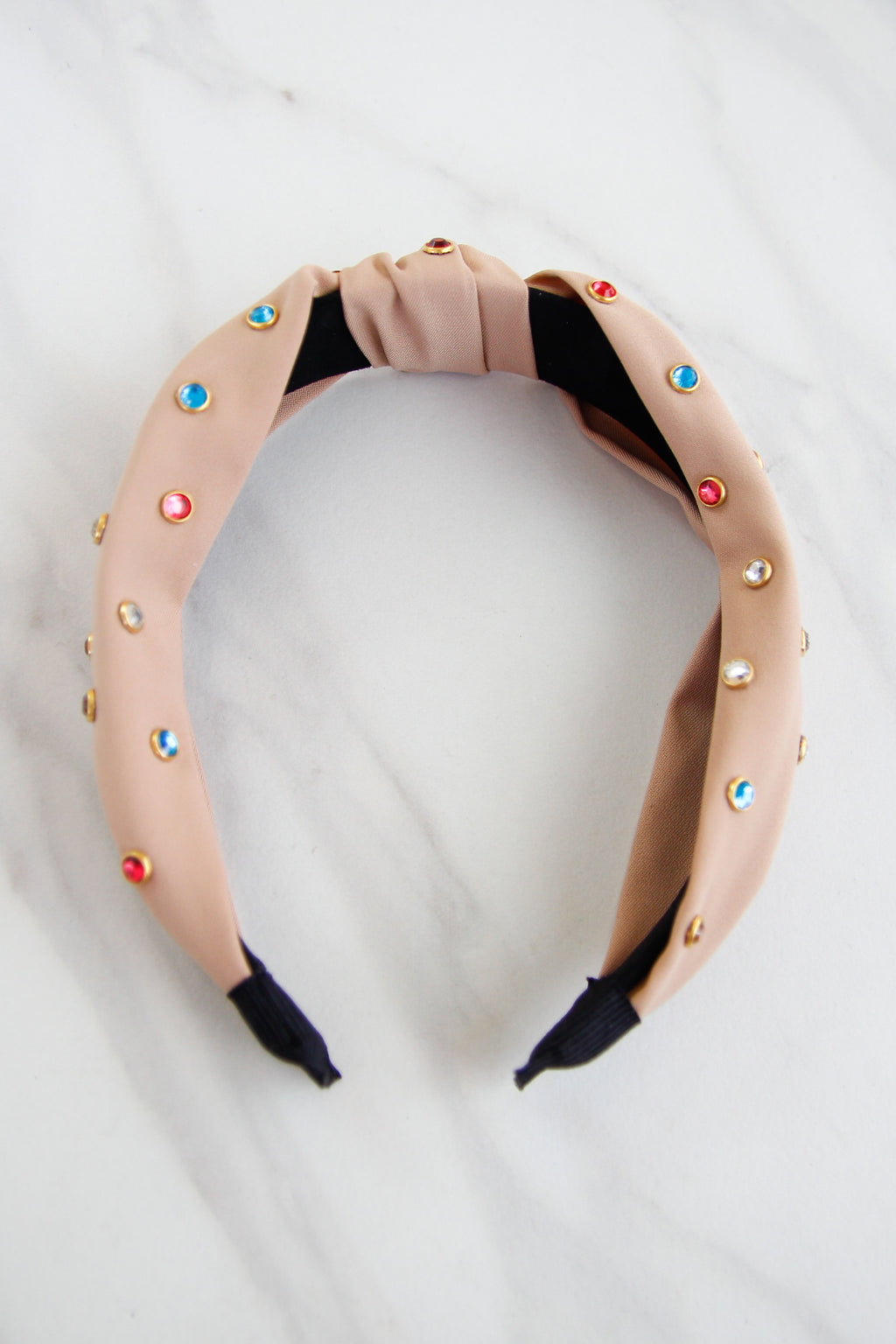 Rainbow Be Dazzled Headband - Beige