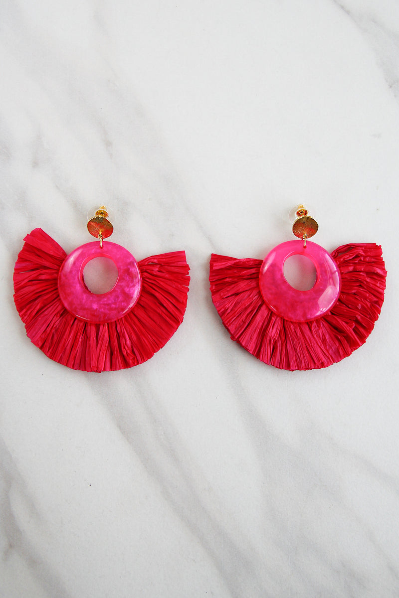 Beautiful Day Earrings - Pink