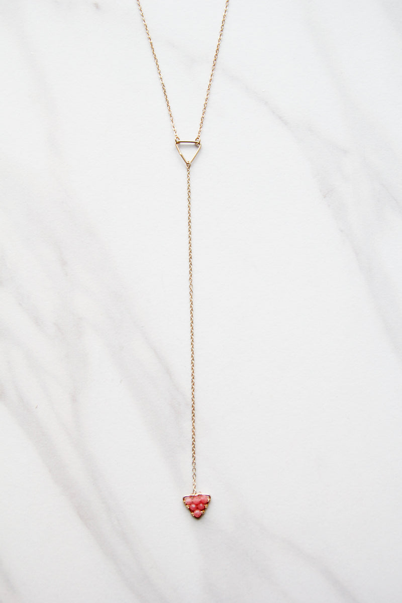 Coral Triangle Drop Necklace
