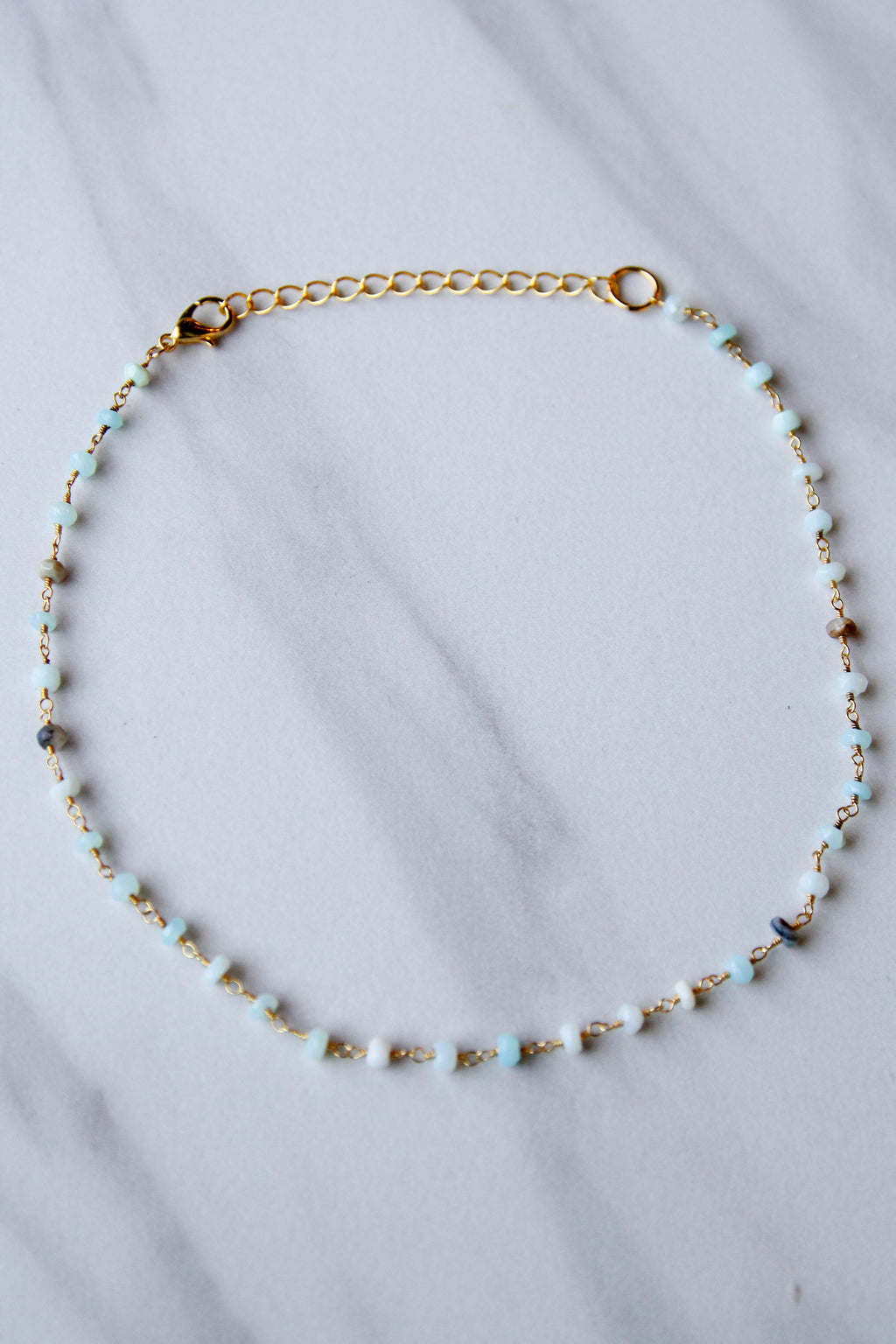 Mint Opal Beaded Choker
