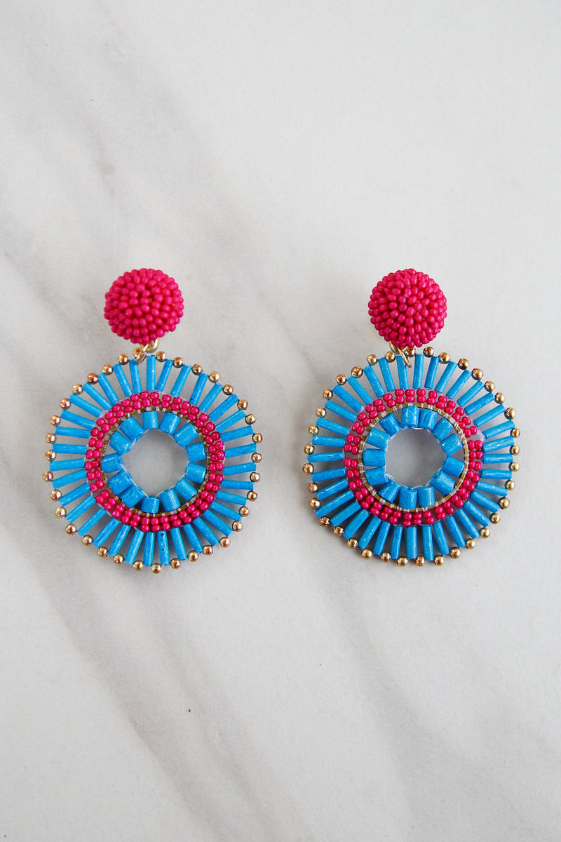 Larkin Earrings - Raspberry