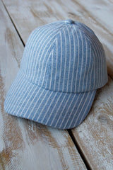 Blue Striped Baseball Hat